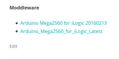 Arduino Mega2560 for iLogic, Latest version, Download isavailable.
